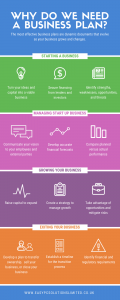 Why we need a business plan infographic
